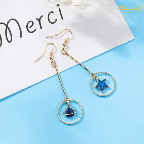 Japanese Moon Drop Dangler Earrings