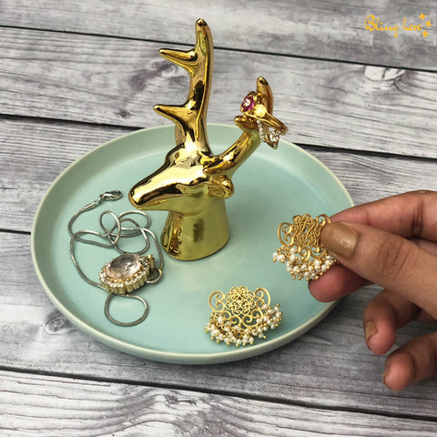 3D Reindeer Jewellery Holder Plate
