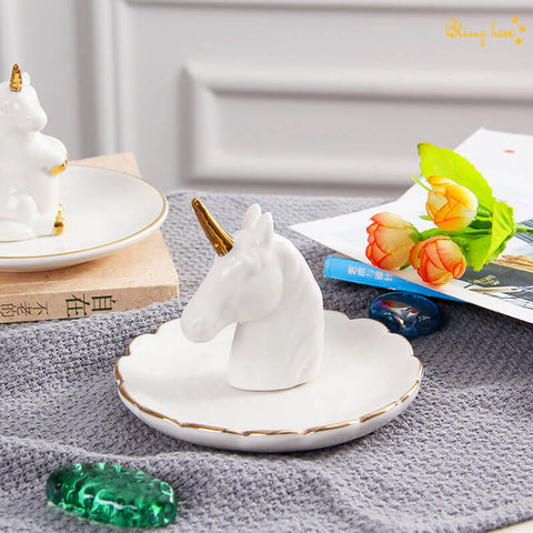 3D Unicorn Jewellery Holder Plate