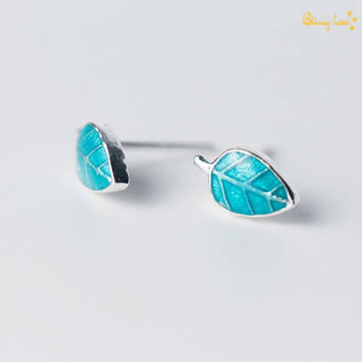 Leaf Shaped Ear Studs