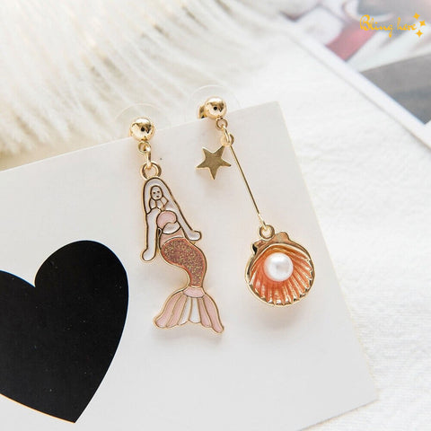 Mermaid Pearl Earrings
