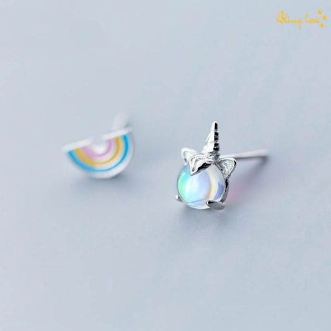 Magical Unicorn Rainbow Ear Studs