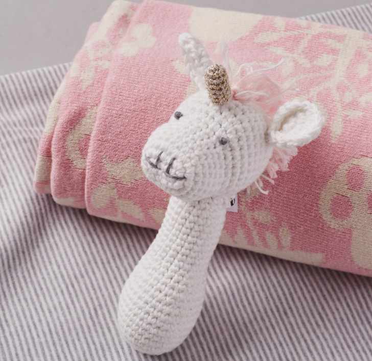 Hand Crochet Unicorn Rattle Toy