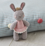 Hand Crochet Princess Bunny Rattle