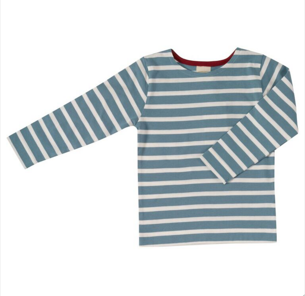 Long Sleeve Breton Stripe Adriatic Blue Age 1-2 Years