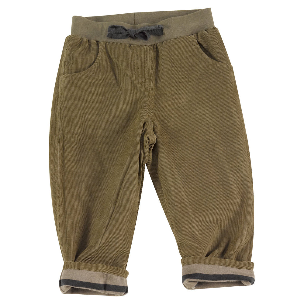 Lined Cord Trousers - Olive