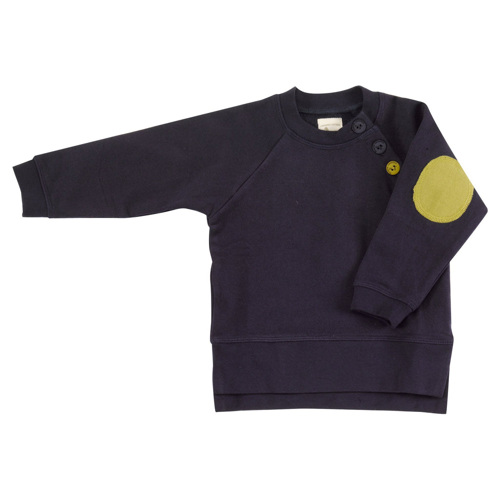 Sweatshirt with Elbow Patches - Deep Indigo