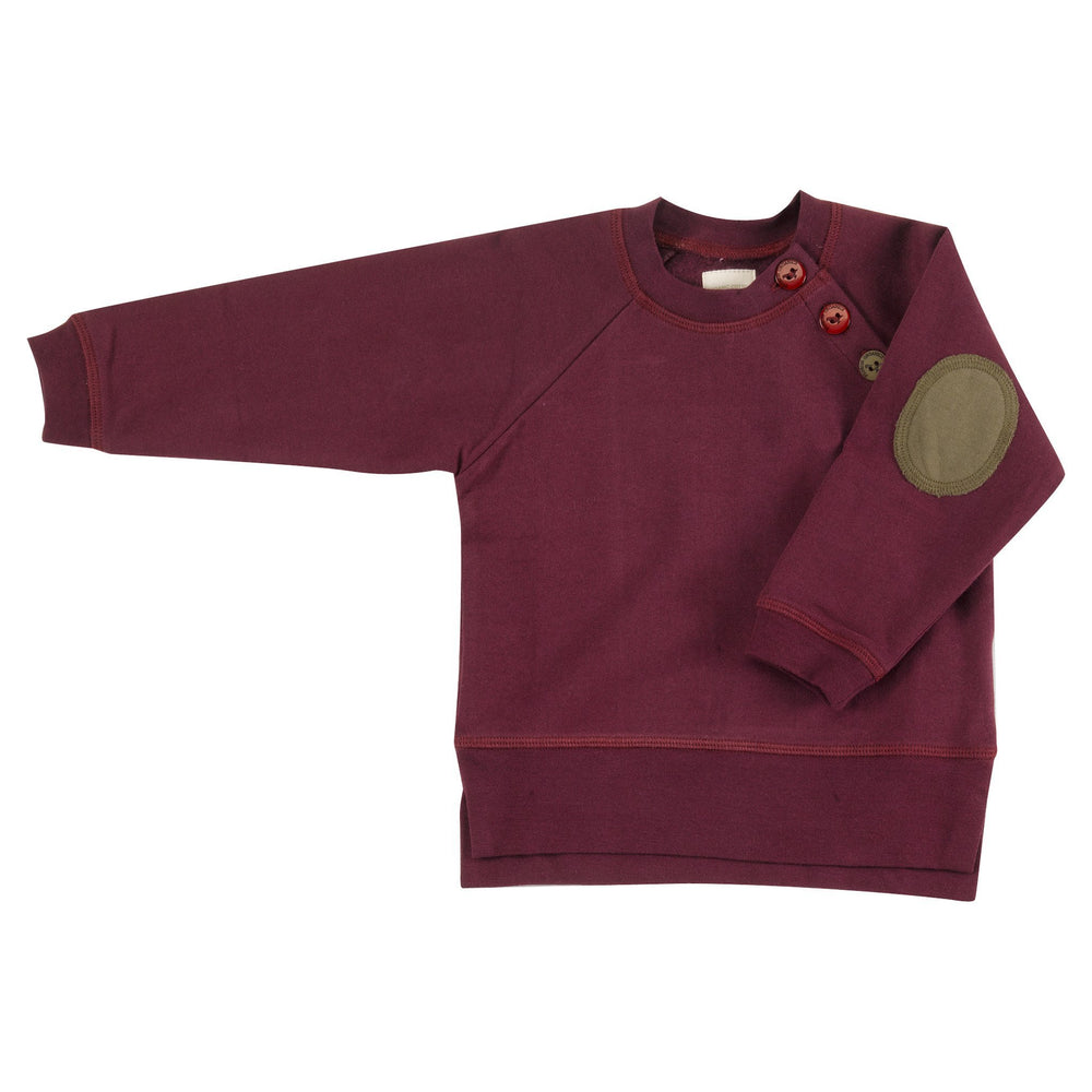 Sweatshirt with Elbow Patches - Fig