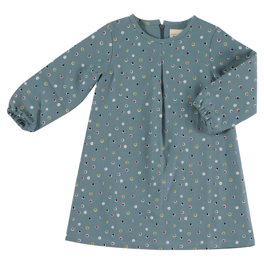 Tunic Dress - Spots on Blue
