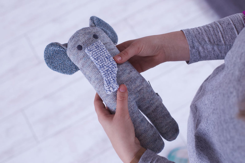 Elephant Knit Toy