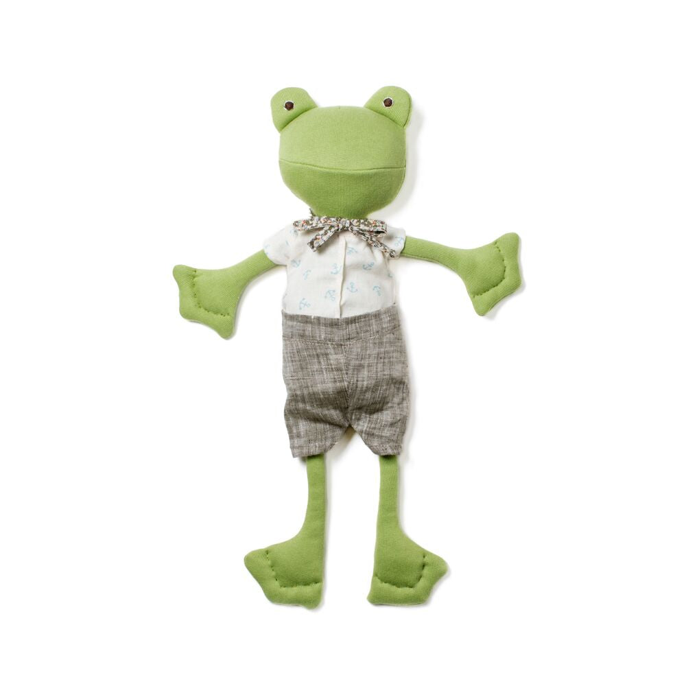 Lewis Toad in Linen Shorts and Liberty Bow Tie