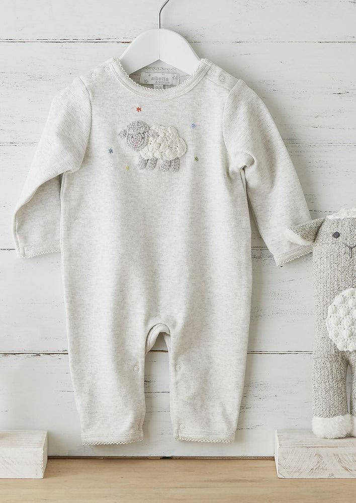 Hand Crochet Little Lamb Romper