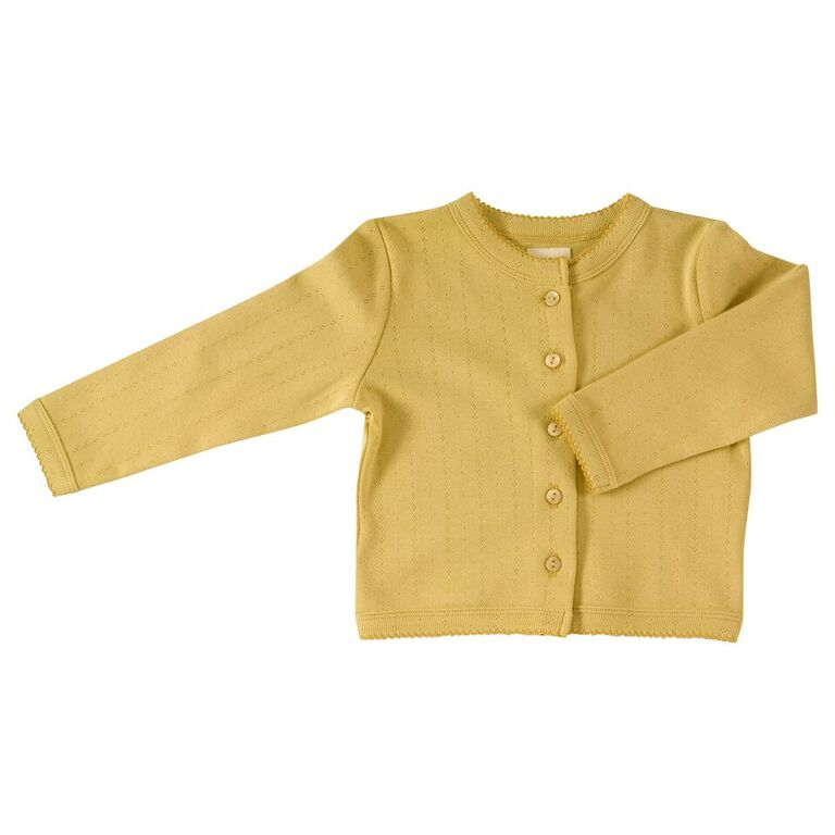 Pointelle Cardigan Parsnip Yellow