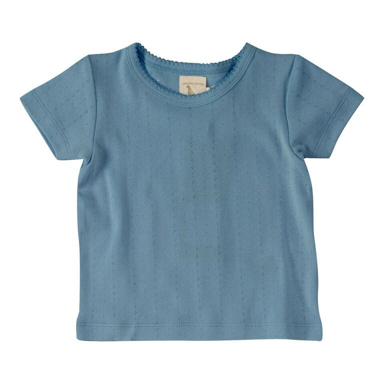 Pointelle T-shirt Adriatic Blue