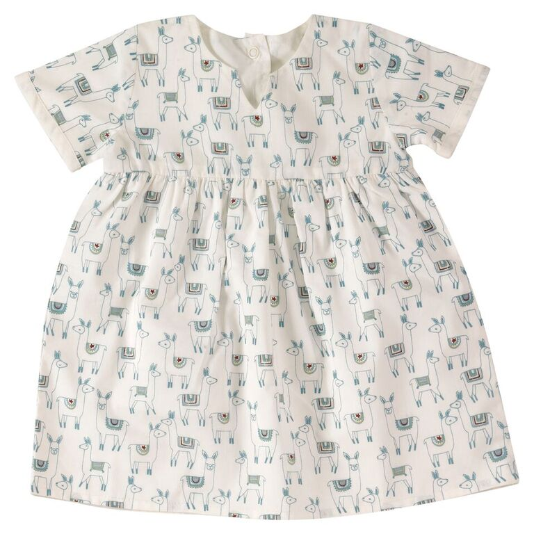 Pretty Reversible Dress - Llamas