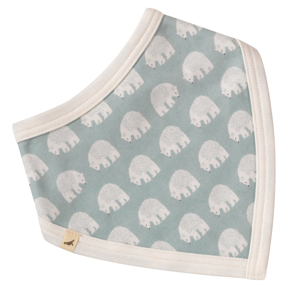 Woodland Bib - Bear Blue