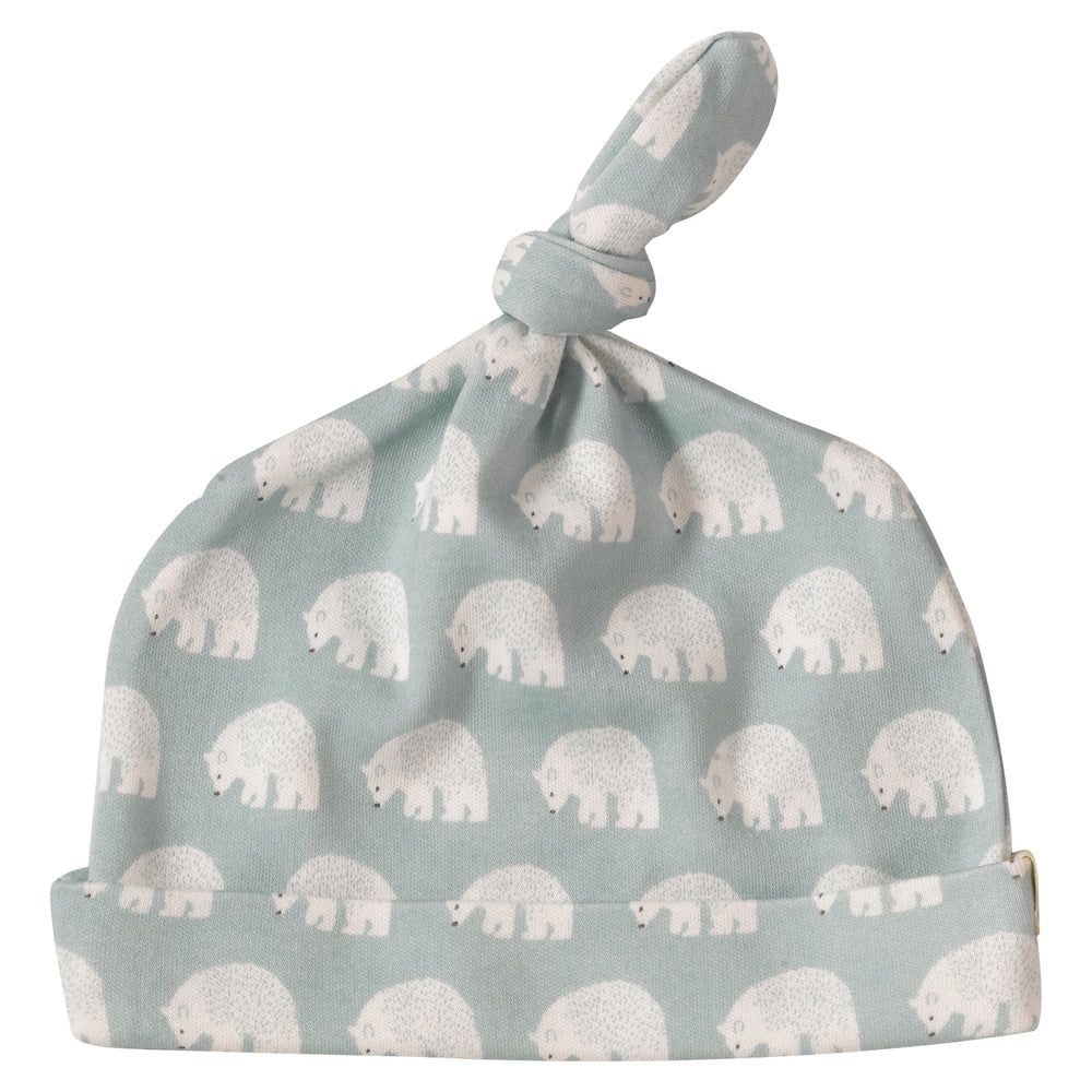 Woodland Knotted Hat - Bear Blue