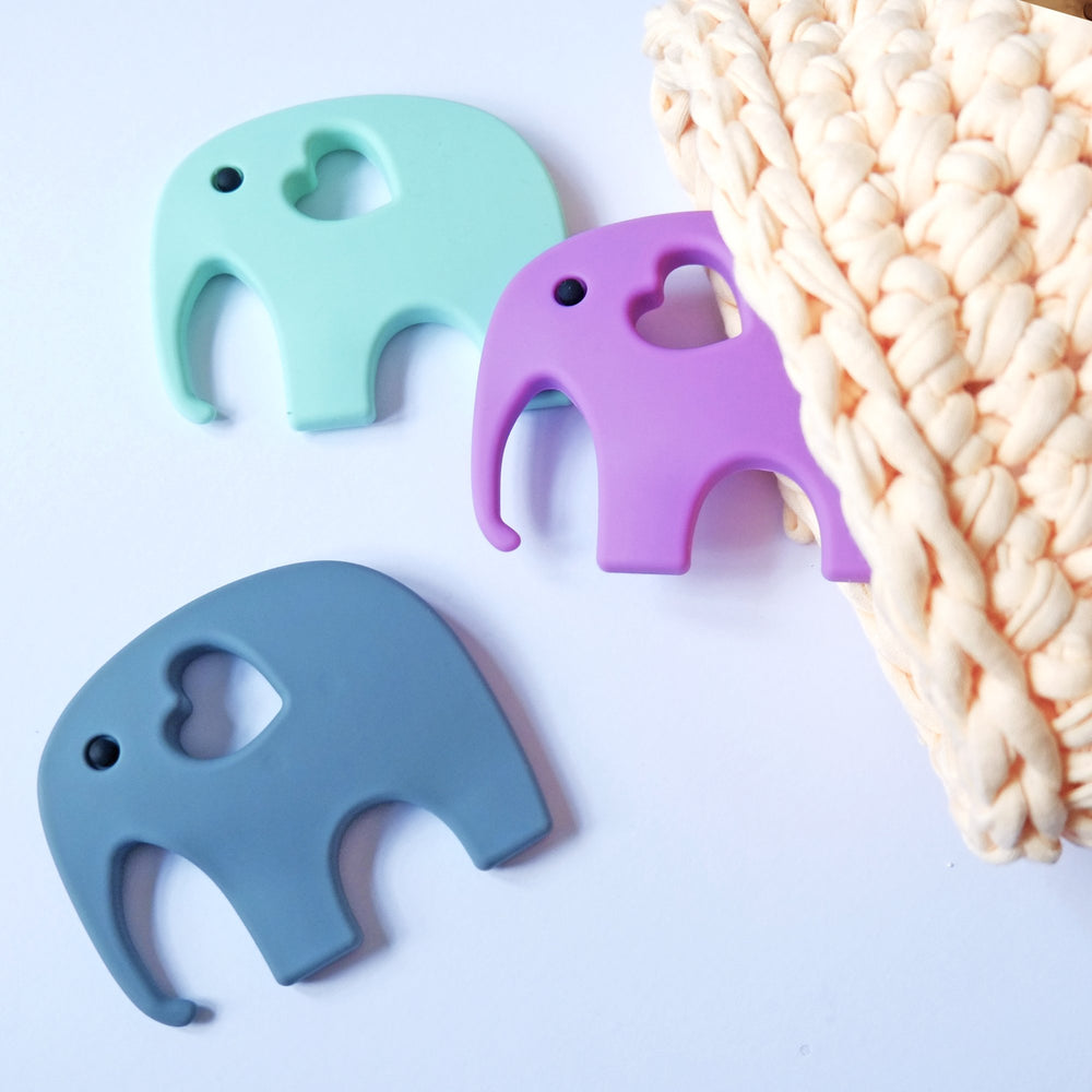 Silicone elephant Teether- mint