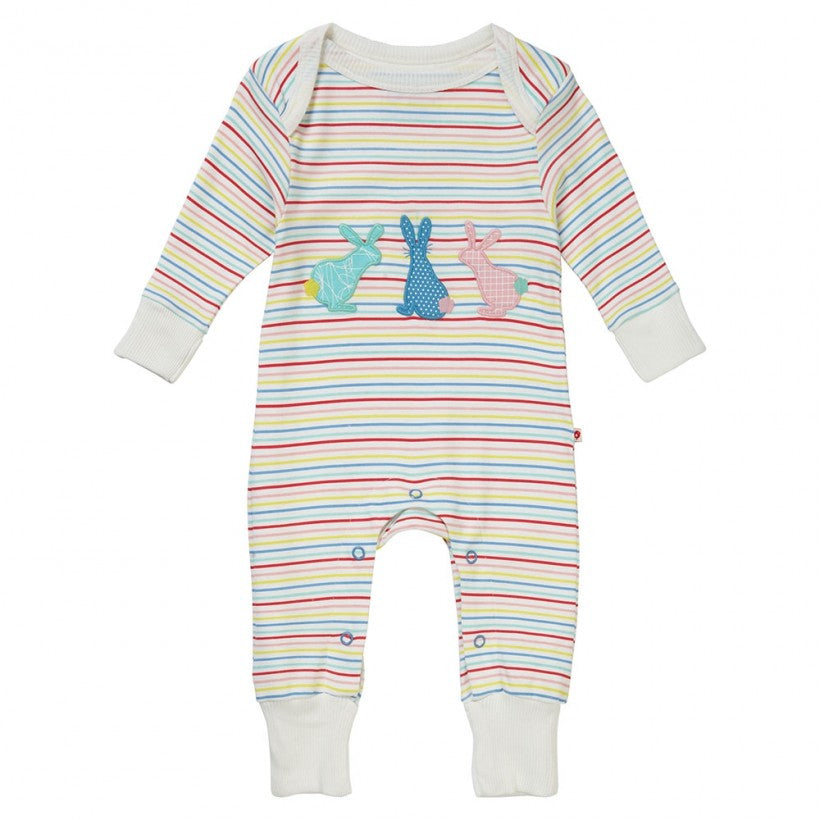 Hopping Bunny Applique Playsuit