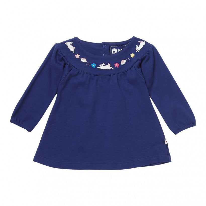 Bunny & Mouse Embroidered Top