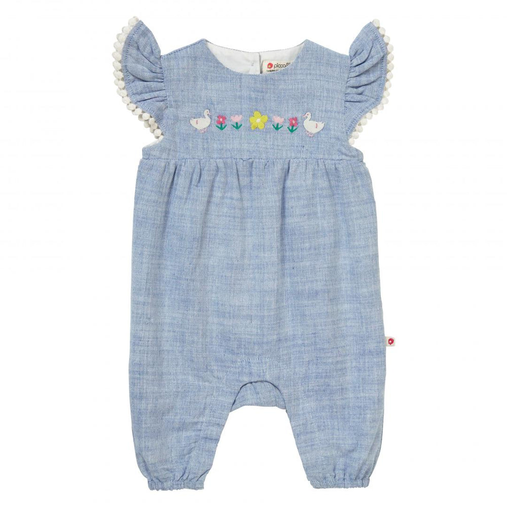 Chambray Baby Romper