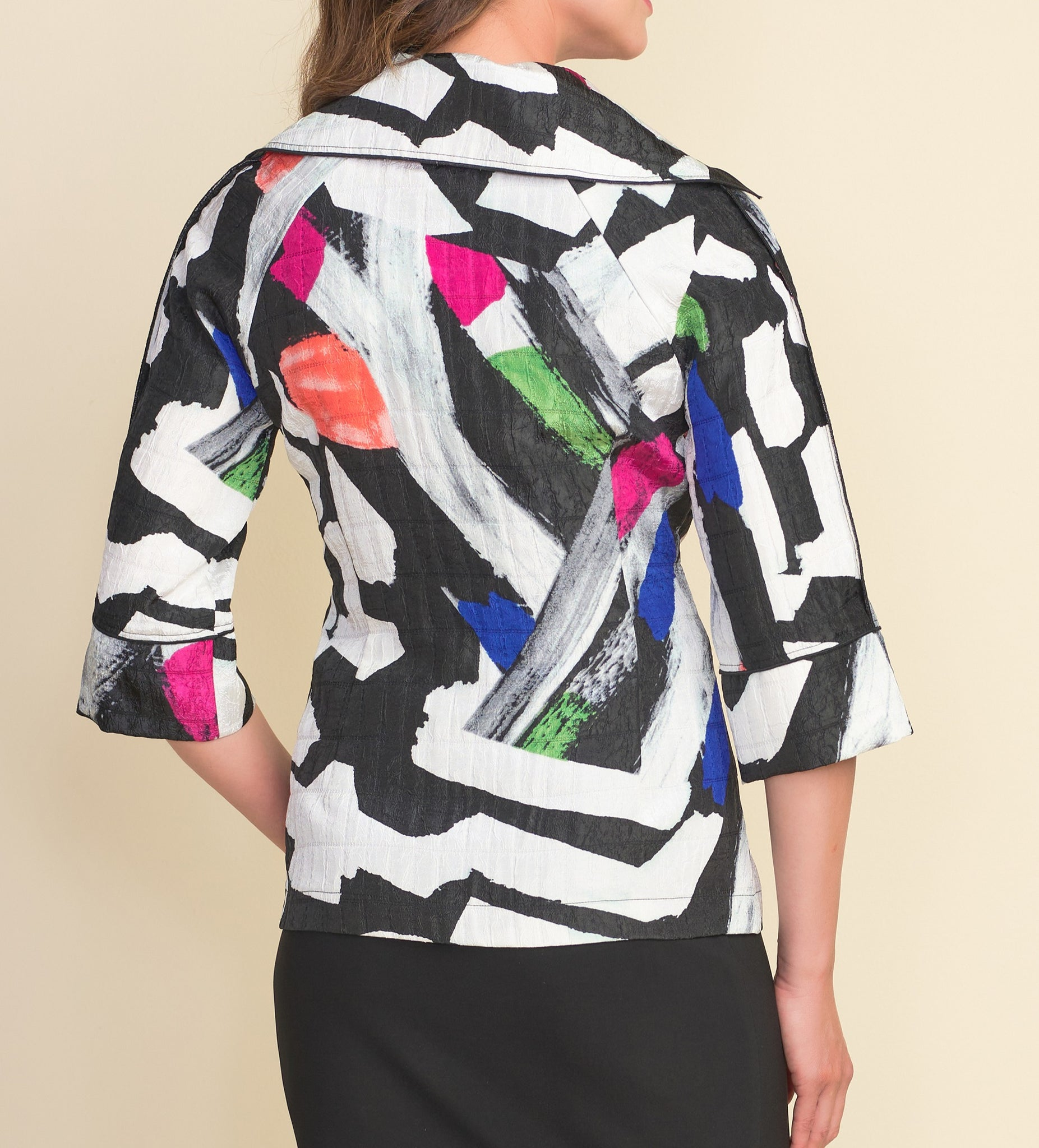 Abstract Button Jacket