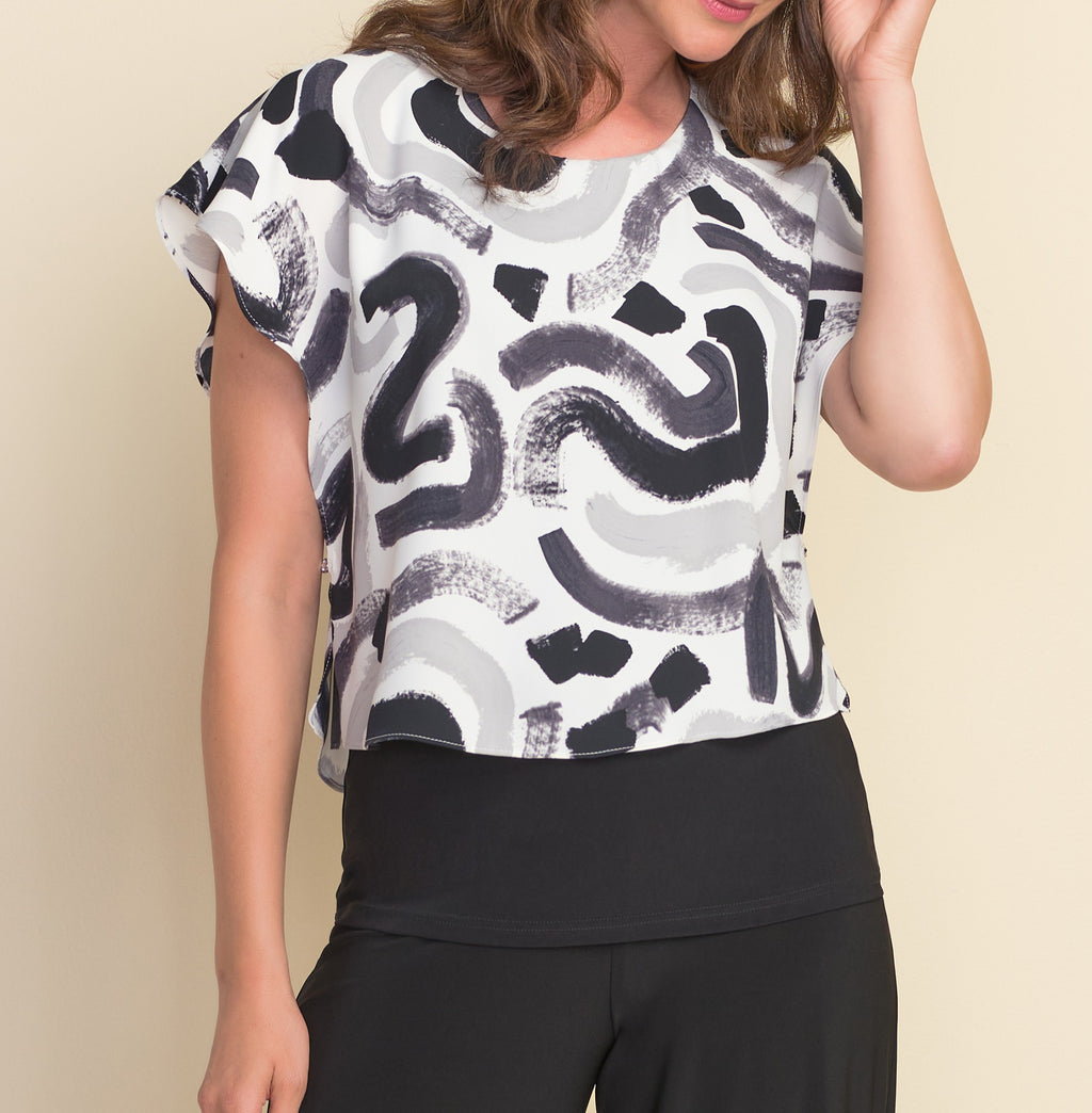 Abstract Double Layer Blouse
