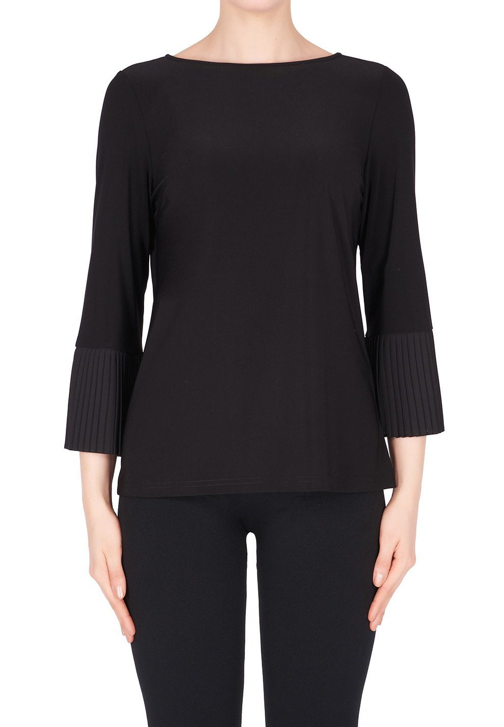 Knit Pleated Bell Sleeve Top