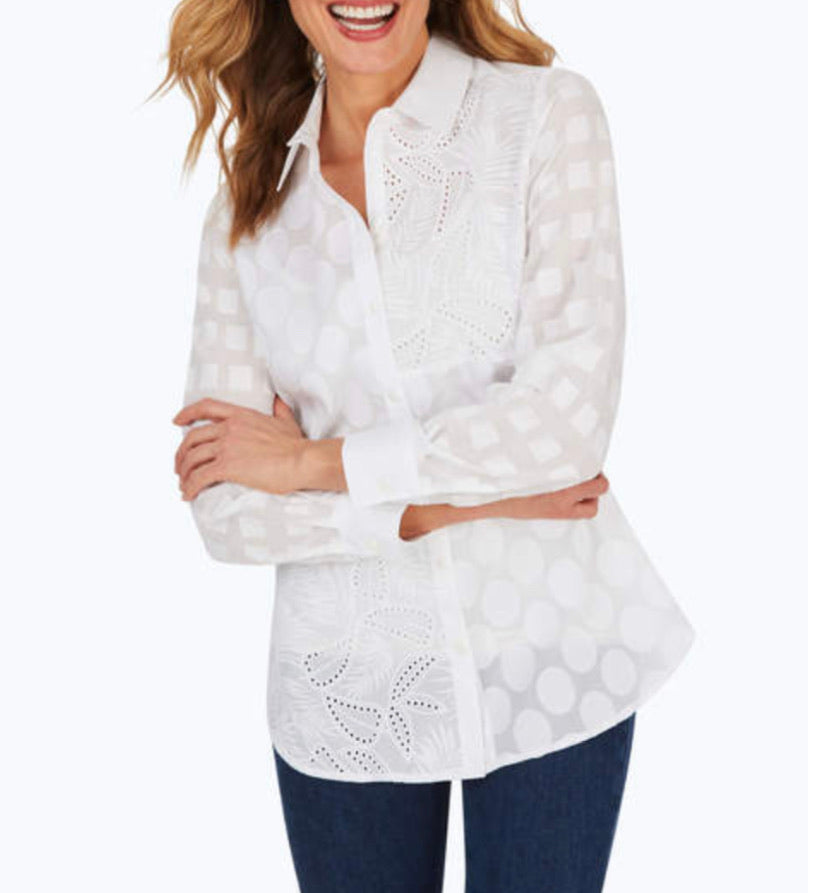 Maven Mixed Texture Tunic