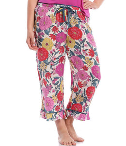 kensie floral sleep bottoms