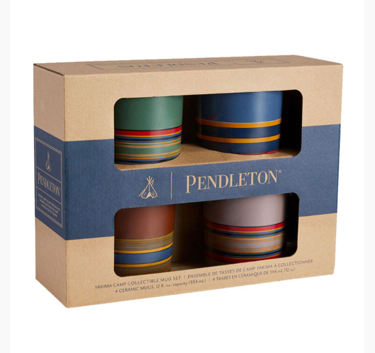 Ceramic Stripe Mug Set