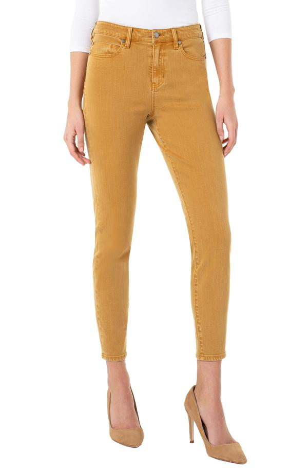 Abby Hi-Rise Ankle Skinny Honey