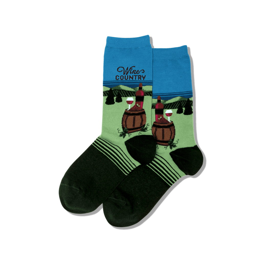 wine country socks