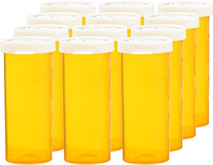 12 Snap Cap Prescription Bottles