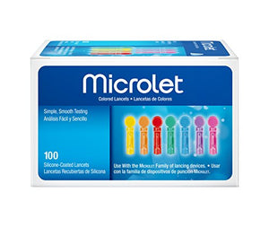 Microlet Colored Lancets 100 Count