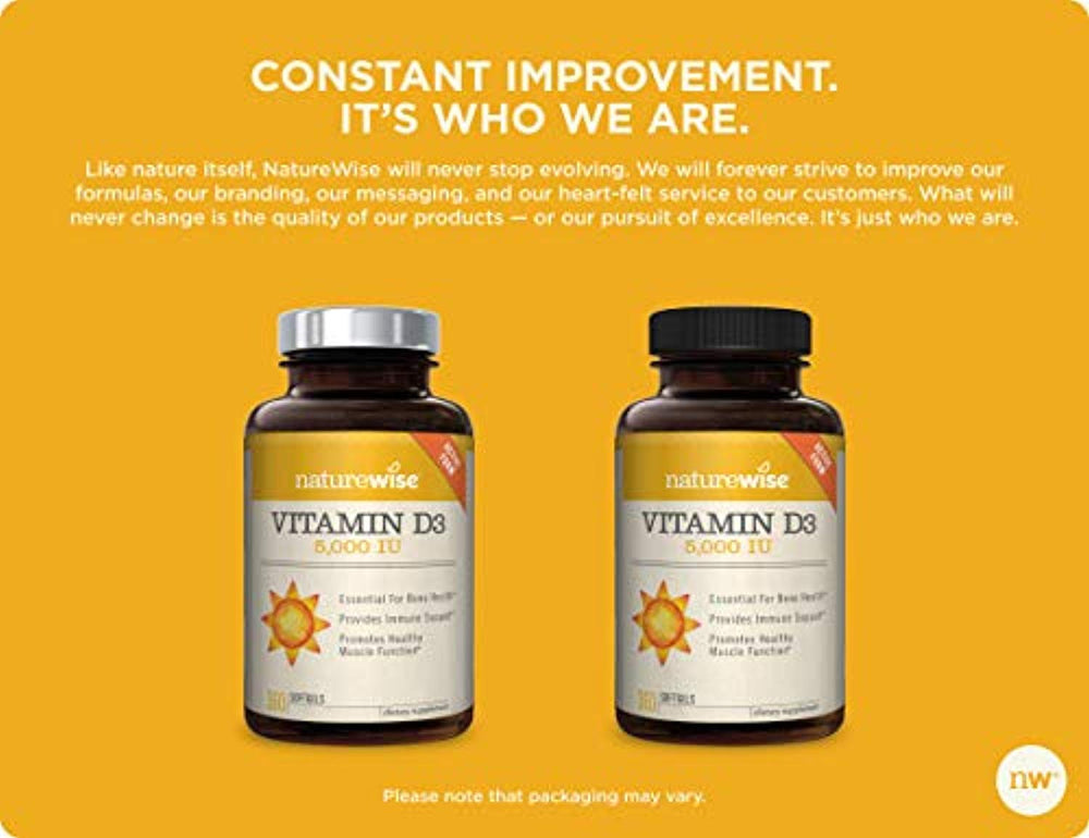 Vitamin D3 5,000 IU for Healthy Muscle Function 90 to 360 count