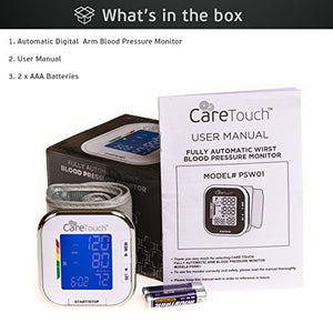 Automatic Wrist Blood Pressure Cuff Monitor