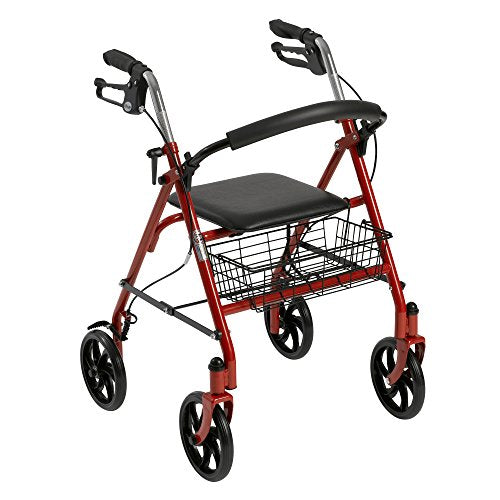 Four Wheel Rollator with Fold Up Removable Back Support