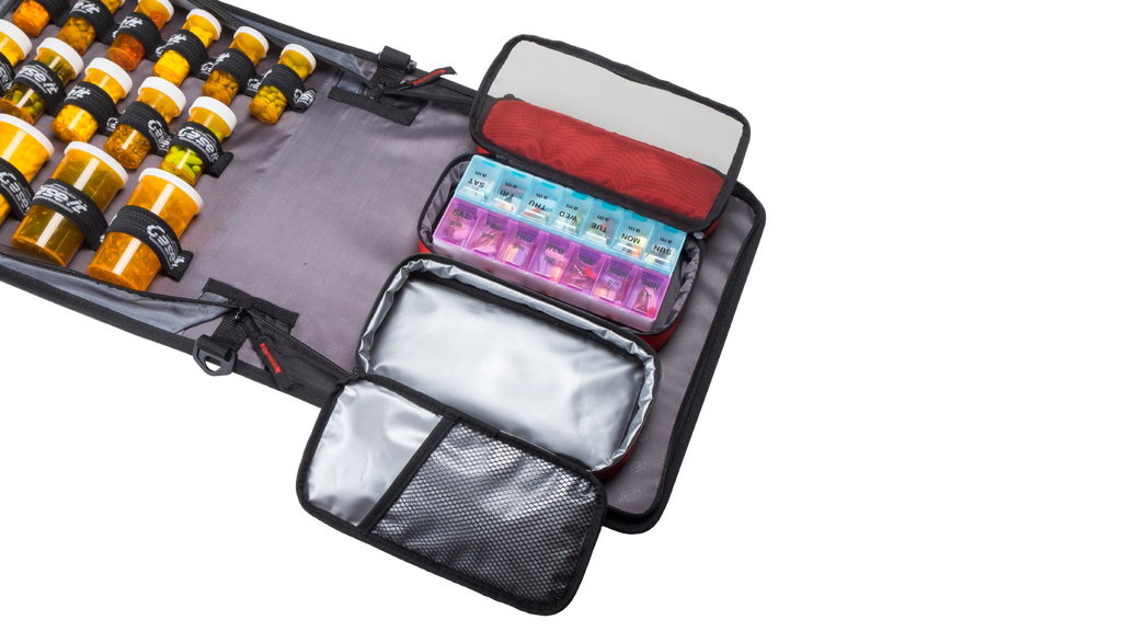Med Manager for Diabetics is a diabetic supply case that holds insulin with an insulated pouch