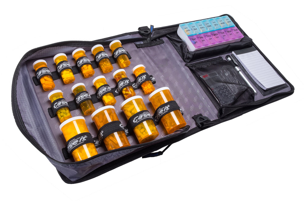 The Med Manager Deluxe it a premium Travel Medication Case that is a very affordable way to organize your medications
