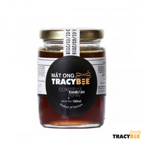 TracyBee - Pure and Natural Vietnamese Rambutan Honey Glass Jar (189ml) - Foodster.vn