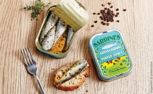 Sardines in olive oil, thyme, lemon & timut pepper (115gr)