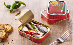 Sardines in Extra Virgin Oil, Chili & Lemon (115gr)