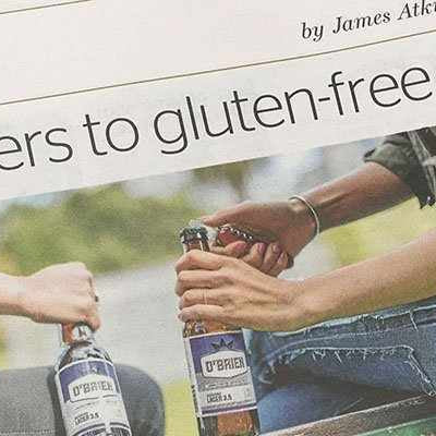 Here's cheers to gluten free beers!