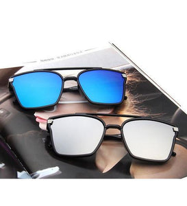 Blue And Black Square Trendy Goggles Combo Pack Of 2 Pcs. - Shopeleo
