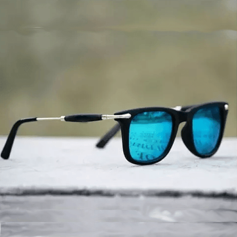 Sunglasses Aqua Blue Square - Shopeleo