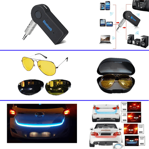 Image of Car Led + Night Vision + Car Bluetooth (3 KA COMBO) - Shopeleo