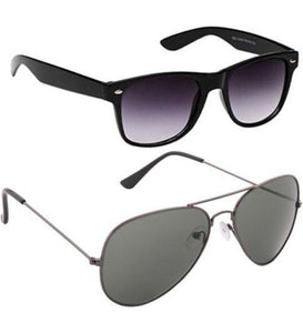 Aviator And Wayfarer Goggles Combo Pack Of 2 - Shopeleo