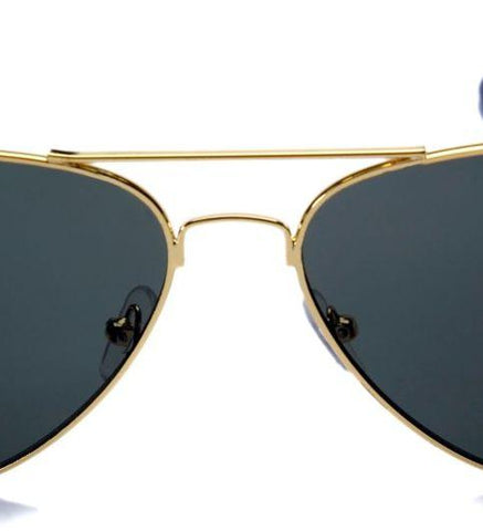 Sunglasses Black Aviator Flat Goggles Unisex - Shopeleo