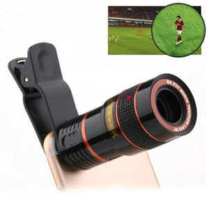 8X Universal Optical Zoom Telescope Camera Lens